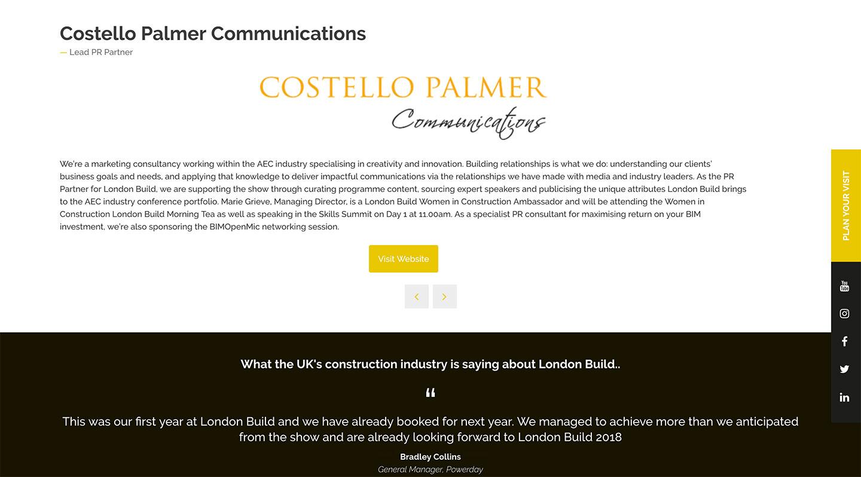 London Build Expo 2018 - Lead PR Partner