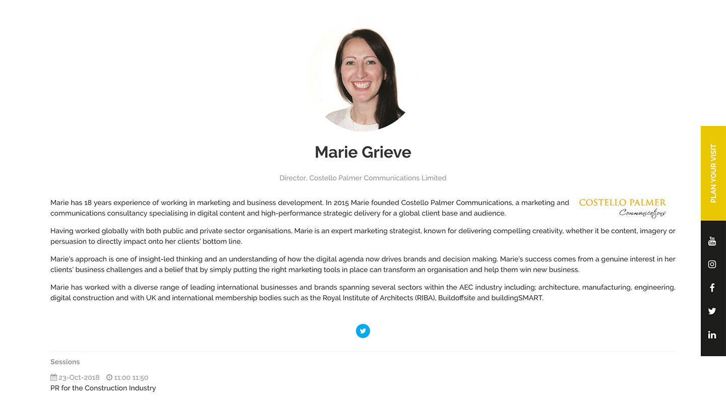 Costello Palmer Communications – Marie Grieve