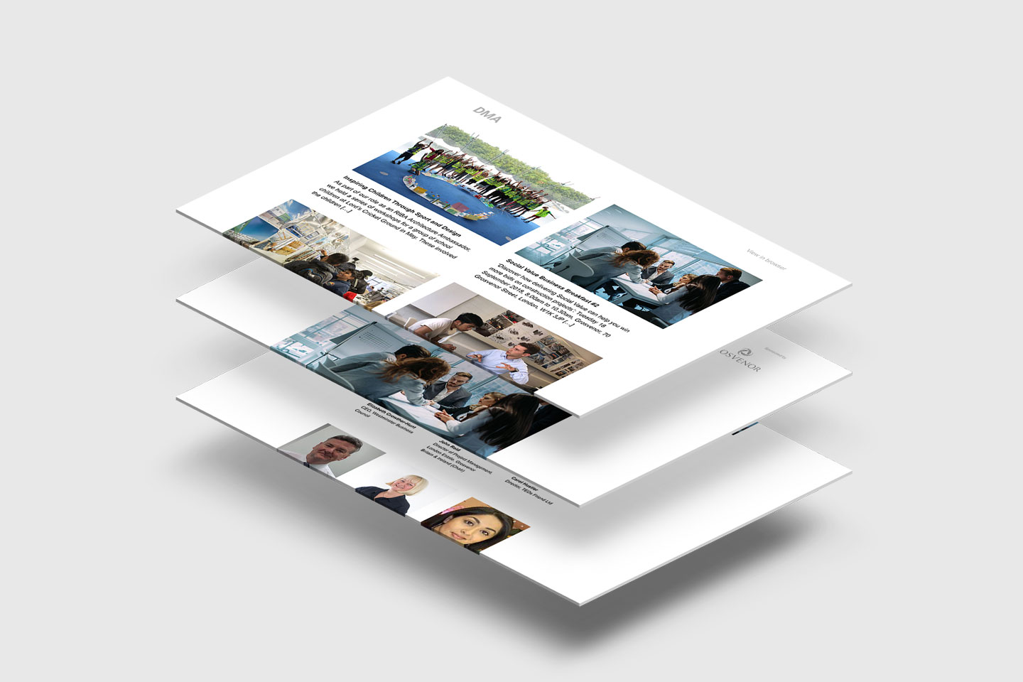 David Miller Architects - email screens