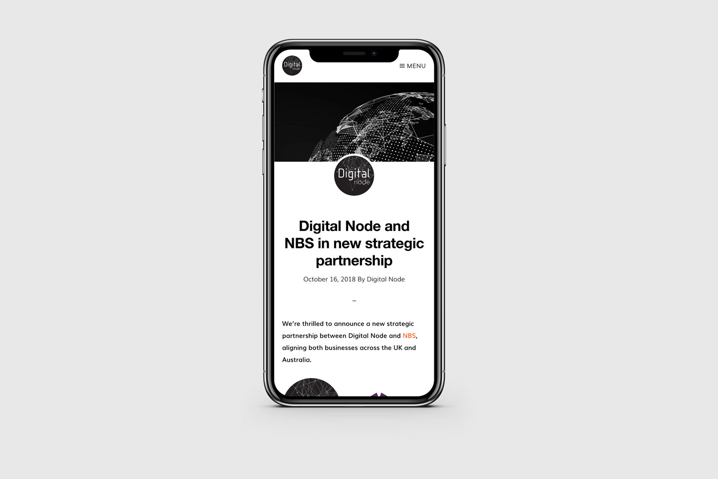 Digital Node – responsive page