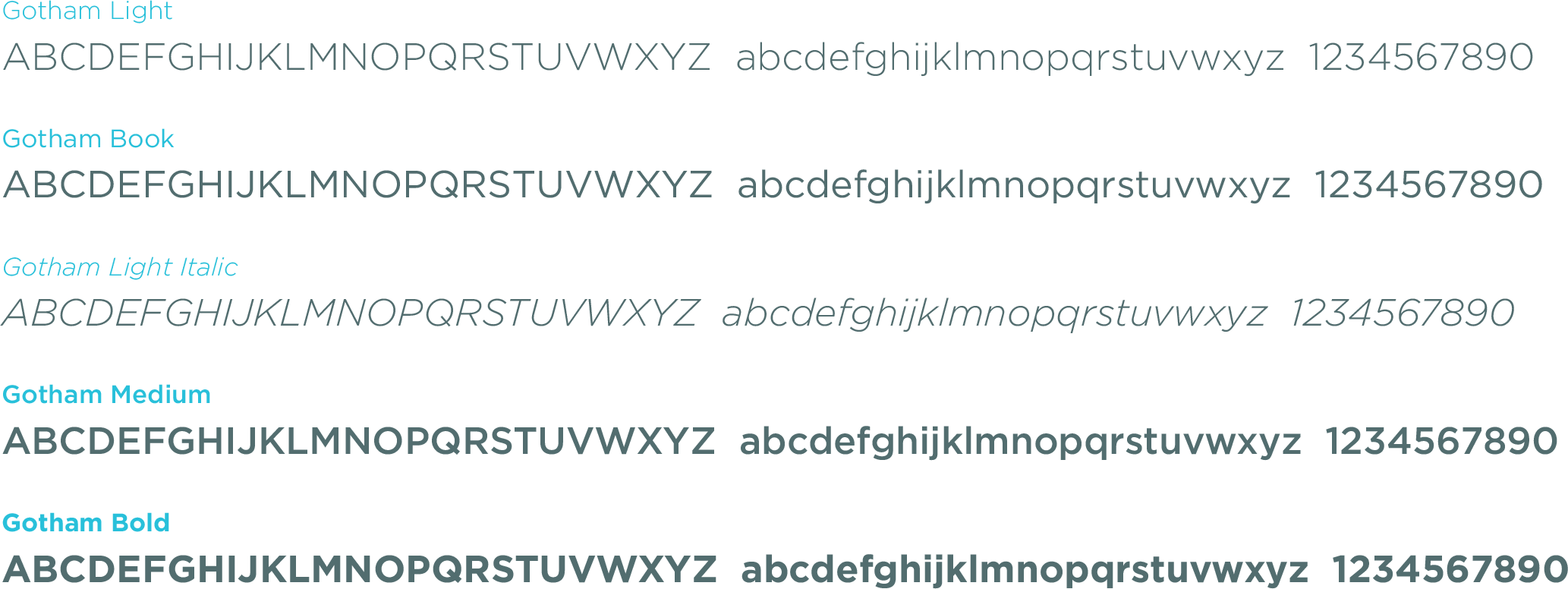 Fonts for print and examples of weight