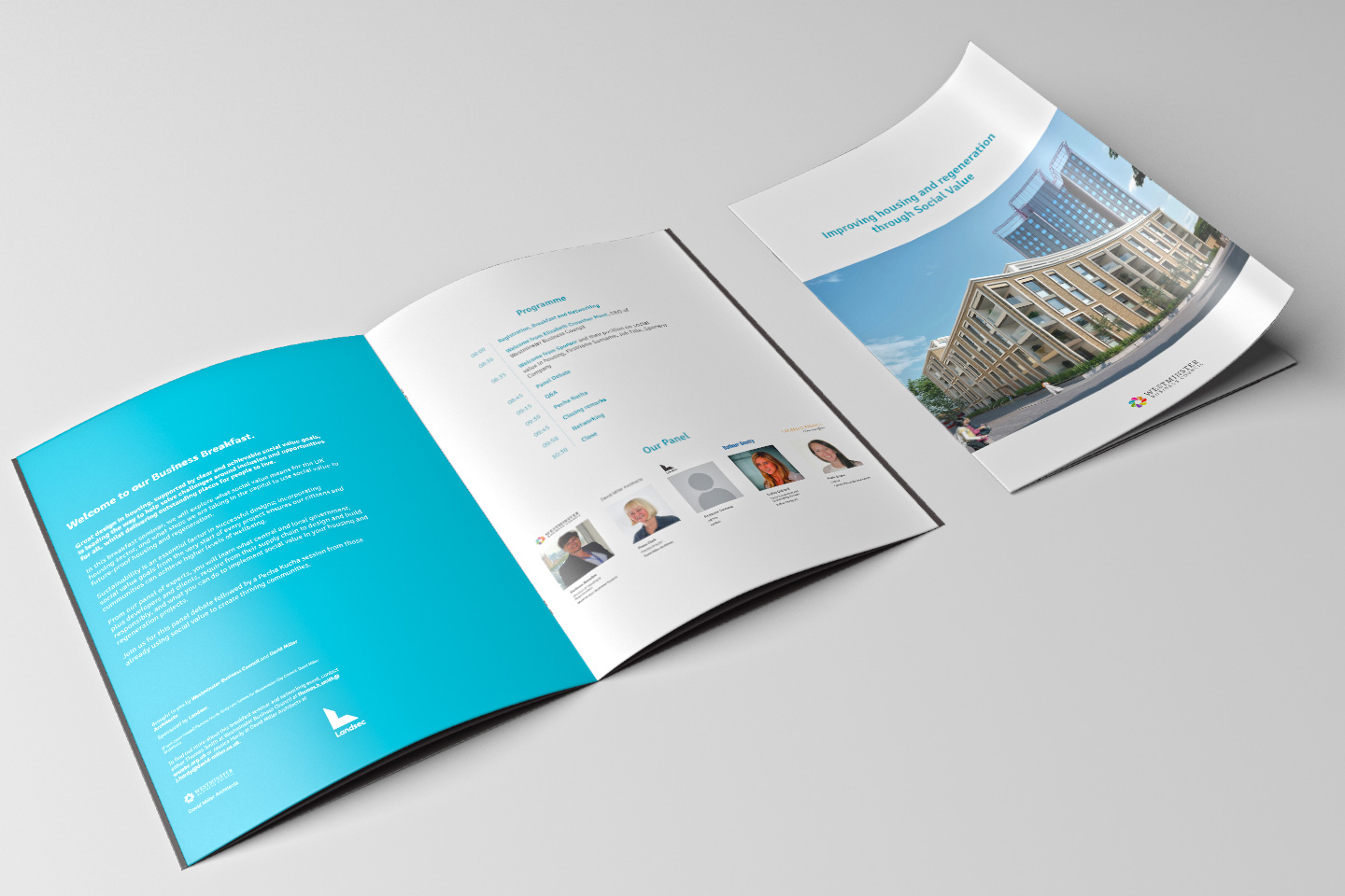 An event brochure we produced for Westminster Business Council