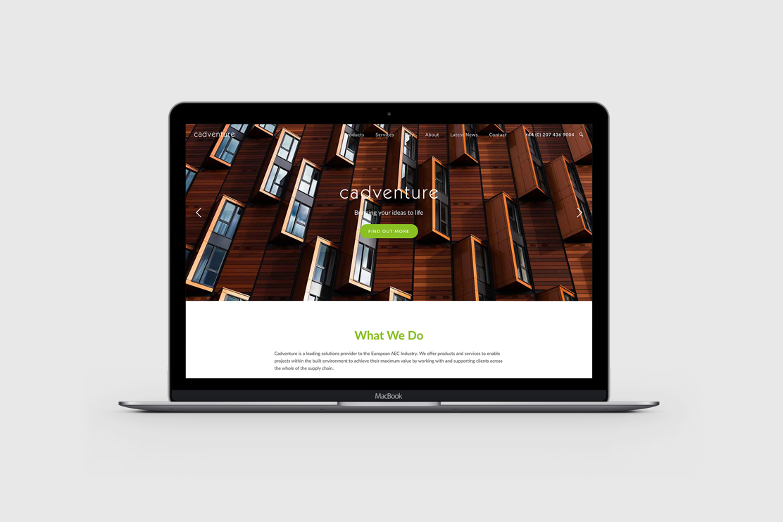The newly redesigned Cadventure website
