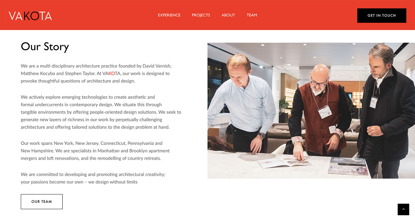 An example of the VAKOTA website
